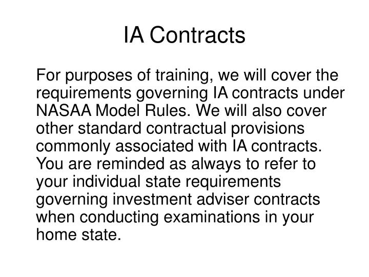 IA Contracts