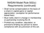 nasaa model rule 502 c requirements continued1