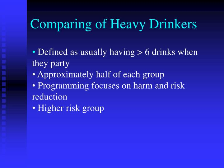 Comparing of Heavy Drinkers