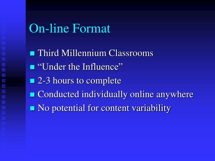 On-line Format