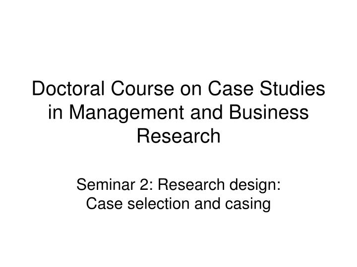 operations research case study
