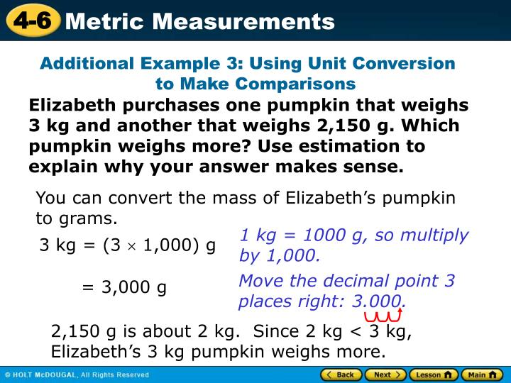 Additional Example 3: Using Unit Conversion