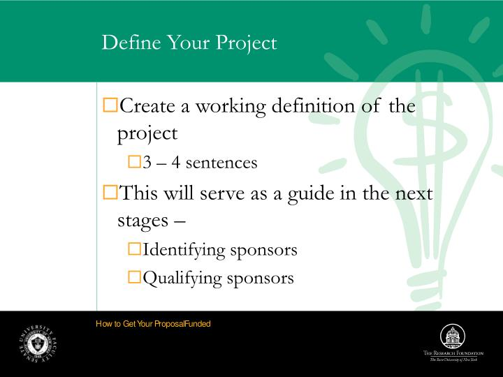 Define Your Project