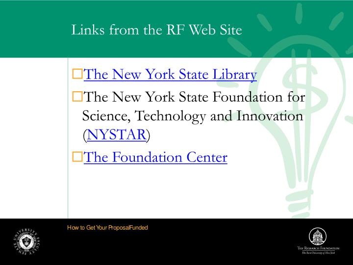 Links from the RF Web Site