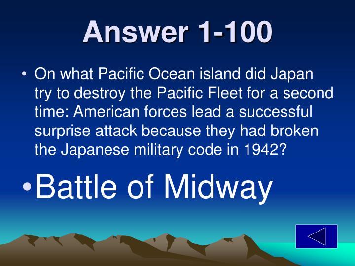 Answer 1-100