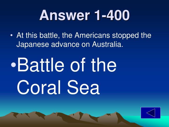 Answer 1-400