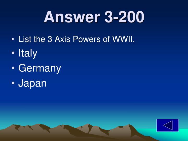 Answer 3-200