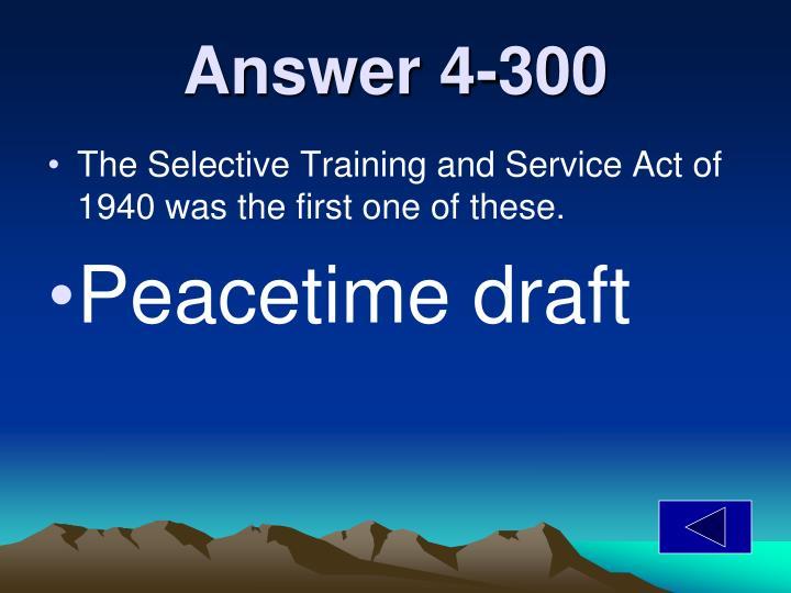 Answer 4-300