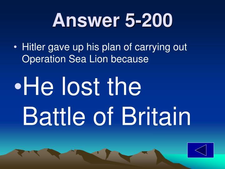 Answer 5-200