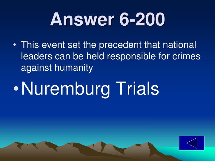 Answer 6-200
