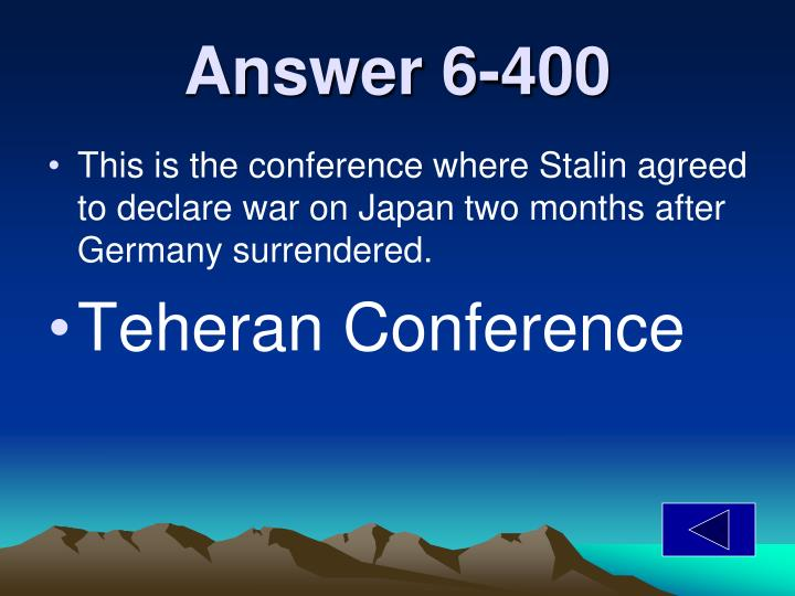 Answer 6-400