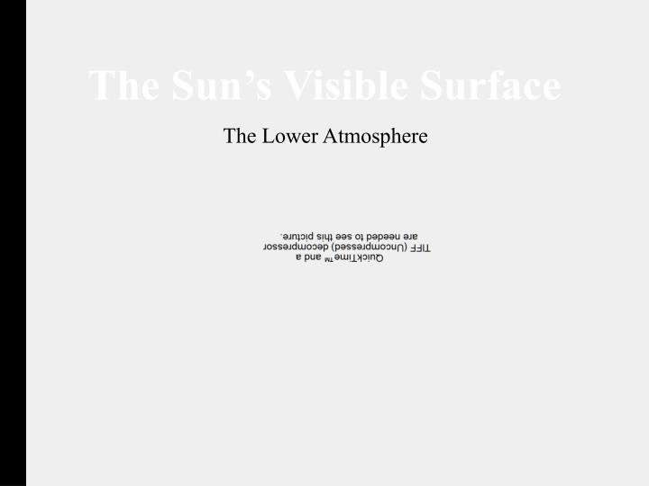 The Sun's Visible Surface