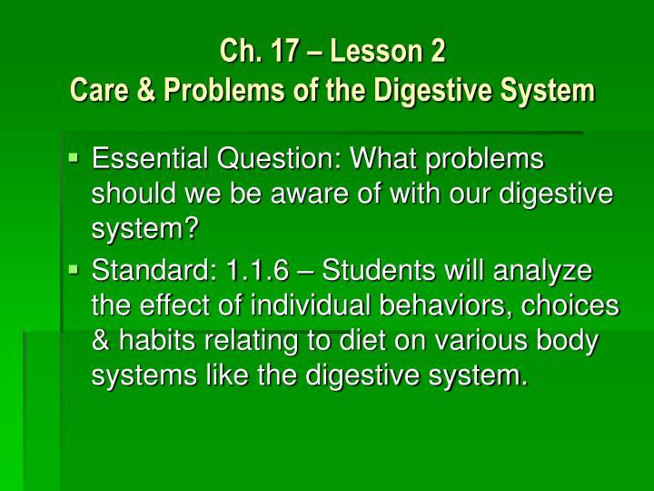 Ch. 17 – Lesson 2