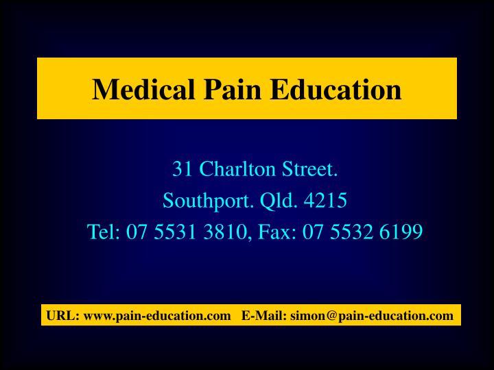 Medical Pain Education