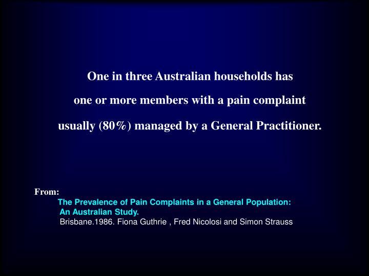 One in three Australian households has