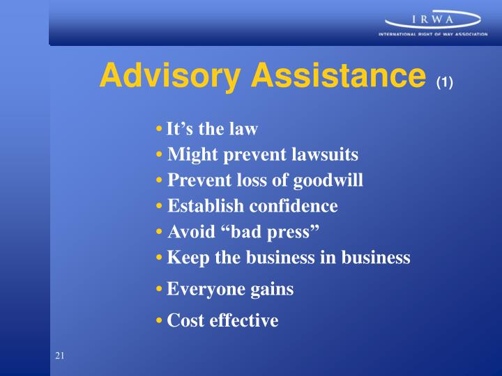 Advisory Assistance