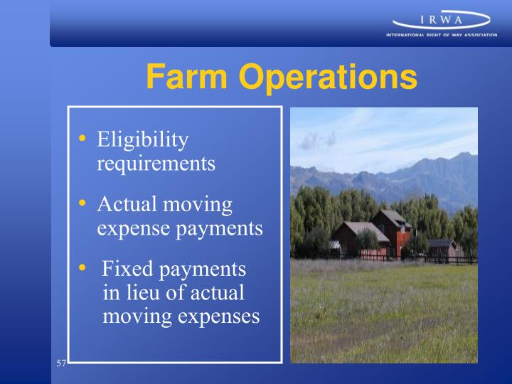 Farm Operations