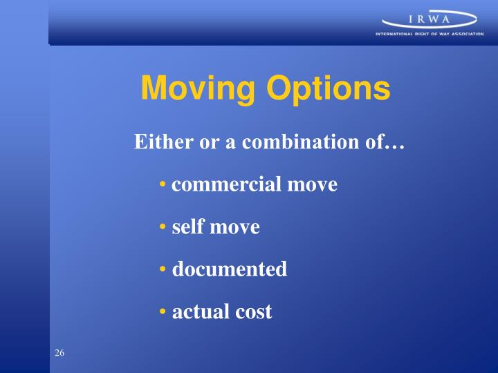 Moving Options