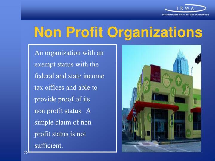 Non Profit Organizations