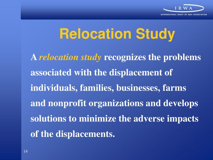 Relocation Study