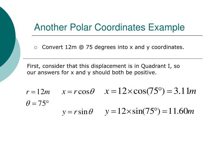Another Polar Coordinates Example