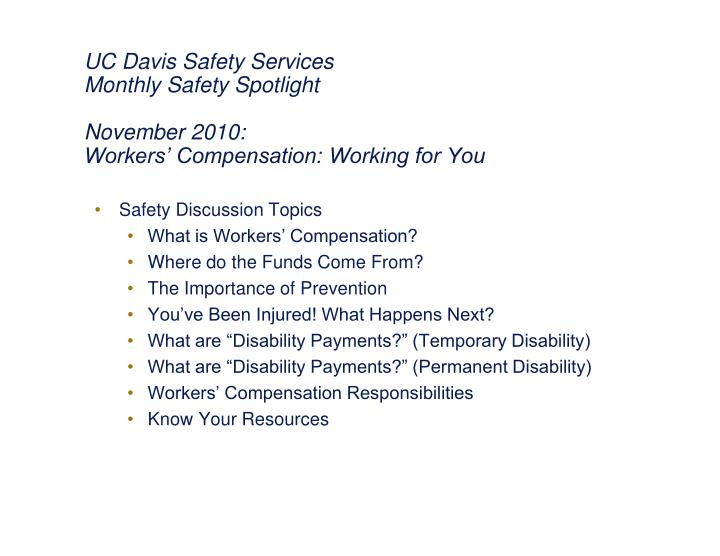 UC Davis Safety Services