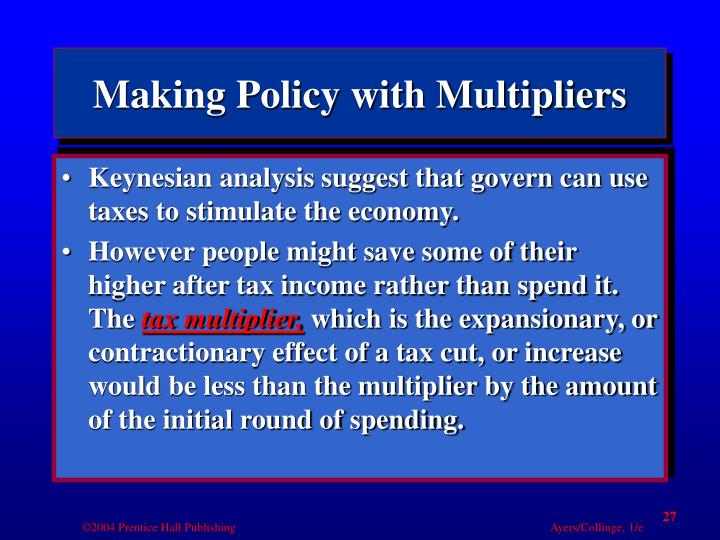 Making Policy with Multipliers