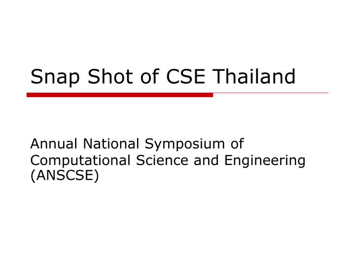 Snap shot of cse thailand