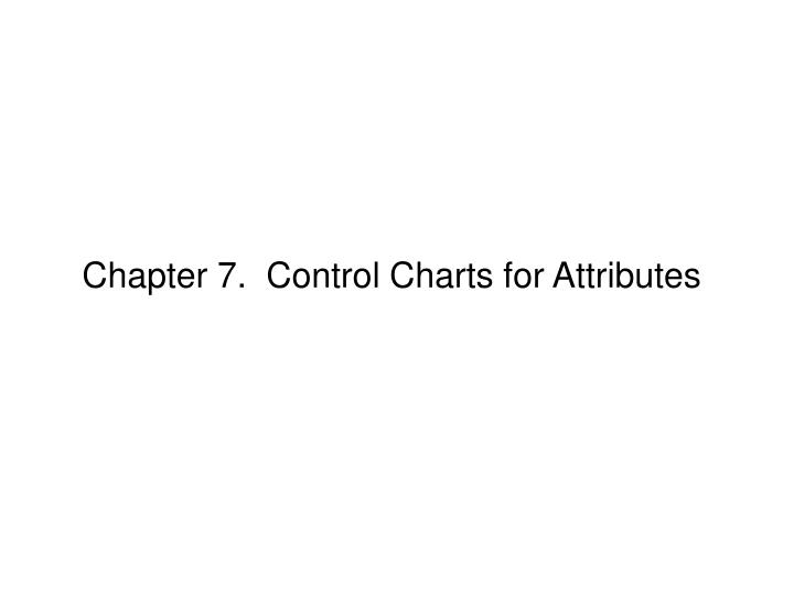 Chapter 7.  Control Charts for Attributes
