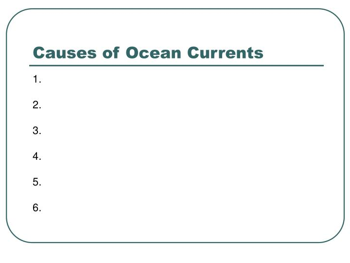 Causes of Ocean Currents