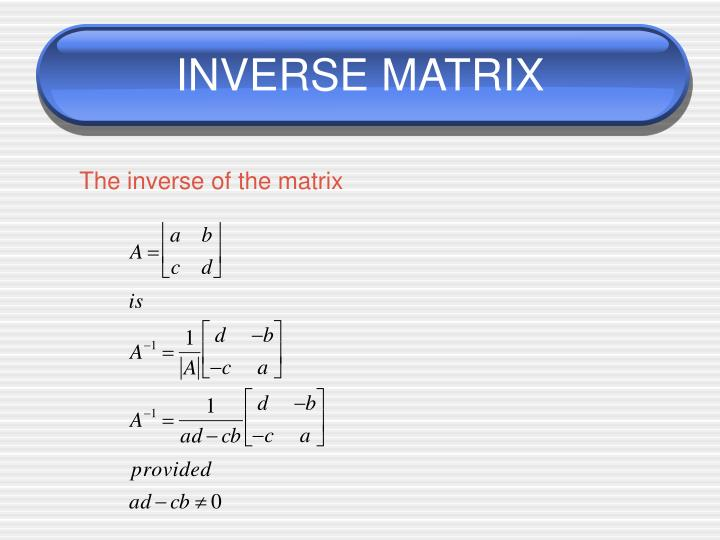 how to find inverses of matrix
