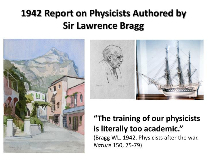 1942 Report on Physicists Authored by