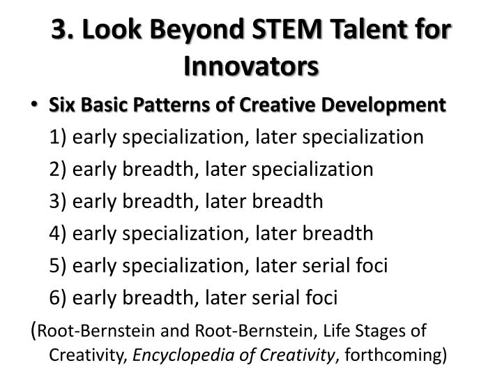 3. Look Beyond STEM Talent for Innovators
