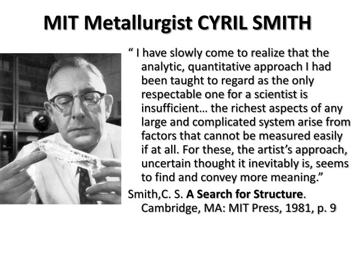 MIT Metallurgist CYRIL SMITH