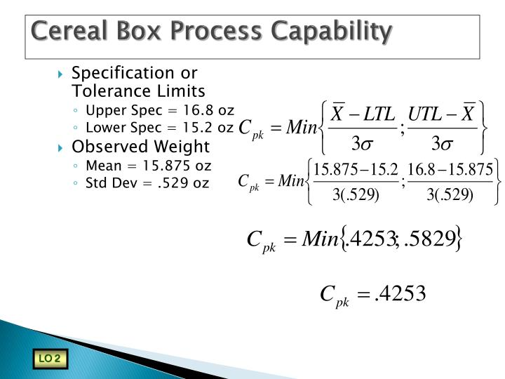 Cereal Box Process Capability