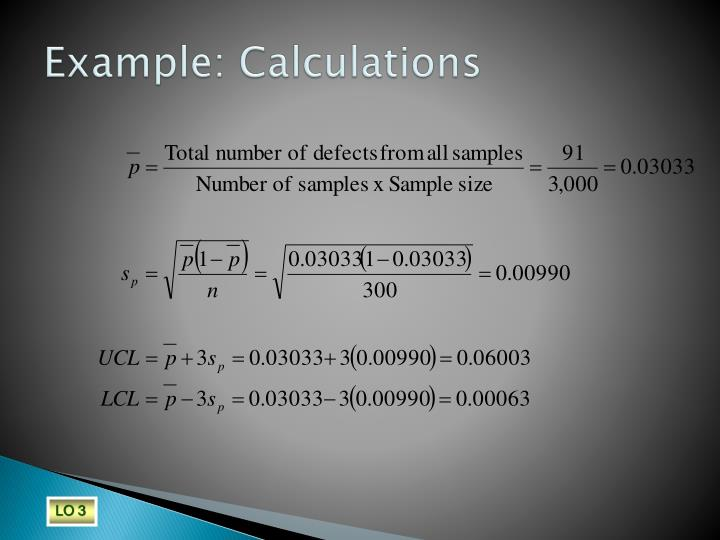 Example: Calculations