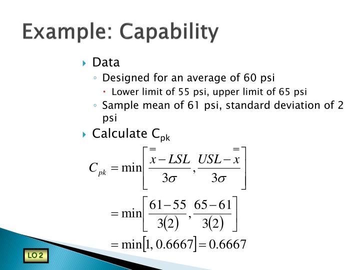 Example: Capability