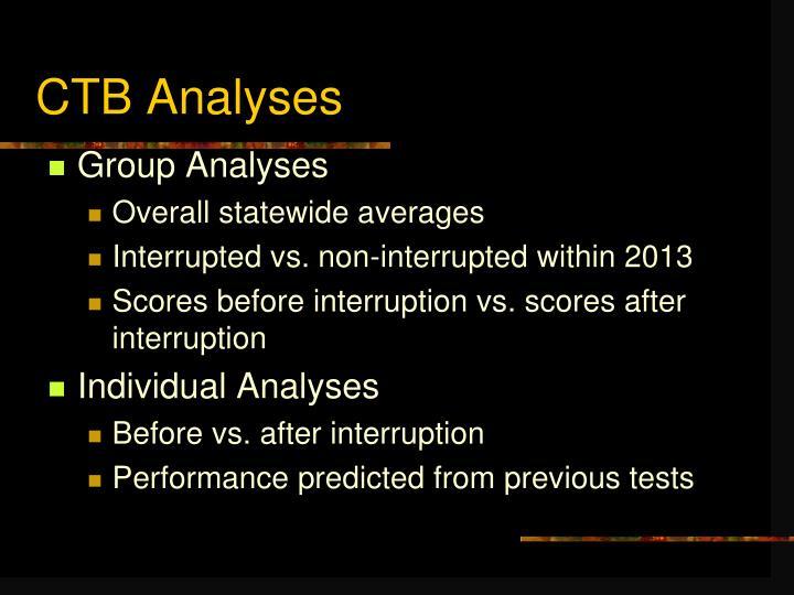CTB Analyses