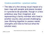 creative possibilities v practical realities1
