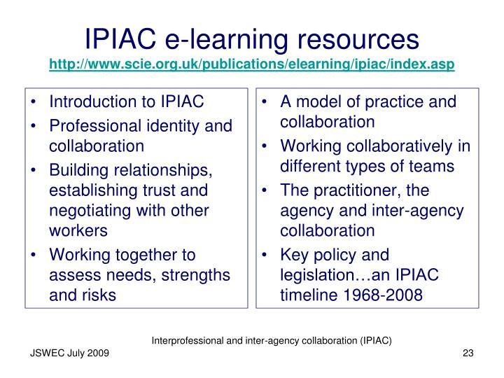 Introduction to IPIAC
