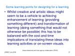 some learning points for designing for e learning