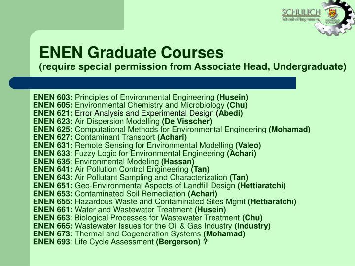 ENEN Graduate Courses