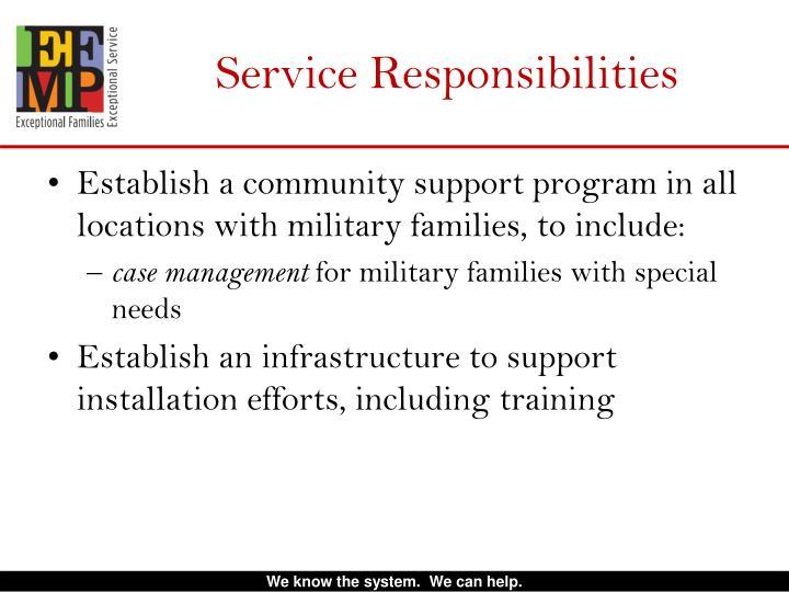 Service Responsibilities