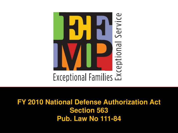 FY 2010 National Defense Authorization Act