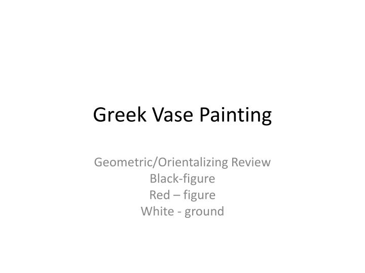 Greek vase painting