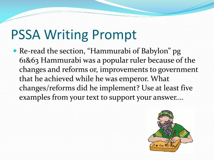 PSSA Writing Prompt