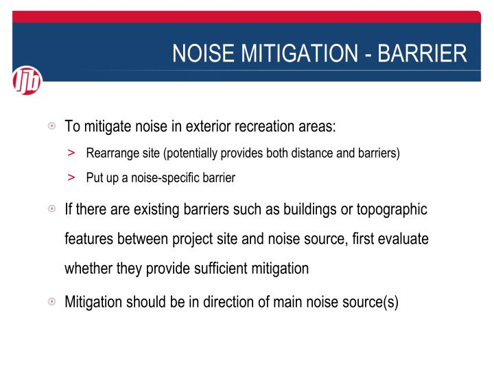 noise mitigation barrier