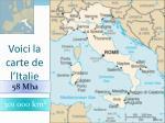 voici la carte de l italie