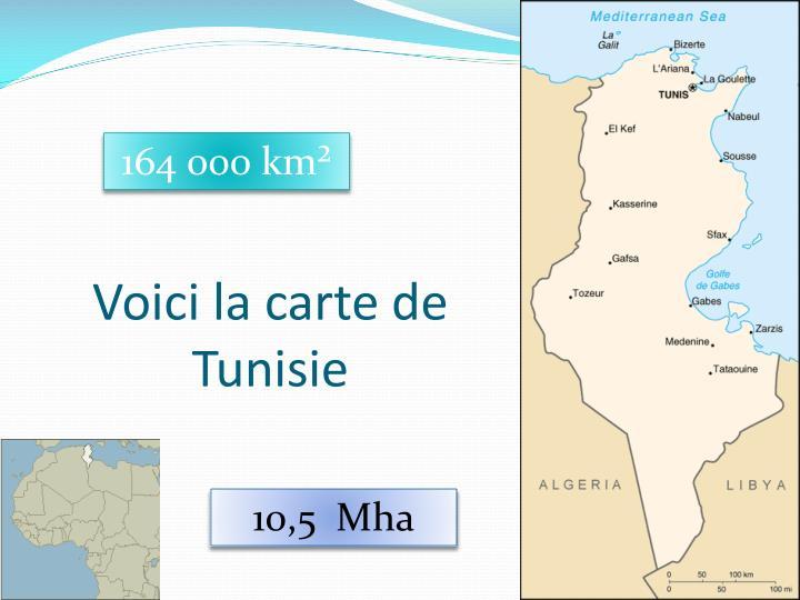 Voici la carte de Tunisie