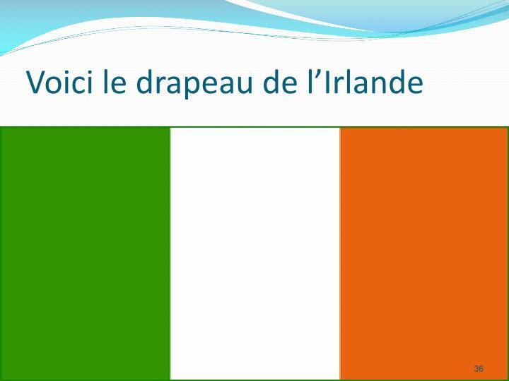 Voici le drapeau de l'Irlande